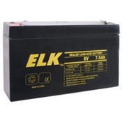 ELK 0675 Sealed Lead Acid Battery, 6 Volts, 7.5 Ah