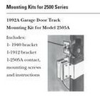 GE Security 1092AL Garage Door Track Mounting Kit For 2505A, Aluminum, Includes (1) 1940 Bracket Kit, (1) 1912 Bracket, (1) 2505A-L Contact.
