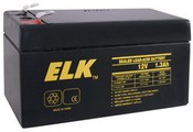 ELK 1213 Battery, Lead Acid 12V-1.3Ah