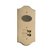 Comelit 3001-R Roma Series Brass Audio Entrance Panel with 1 Push-Button