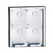 Comelit 3316-4 Stainless Steel Surface-Mounting Box for 4 Bodules