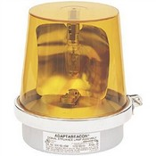 Edwards 52AN540WH Rotating Halogen Beacon Amber 120V 50/60Hz
