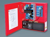 Altronix AL400ULPD4R 4 Fused Outputs Power Supply/Charger 12VDC @ 4A or 24VDC @ 3A Red Encl & Xfmr