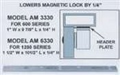 Alarm Controls AM6330 Additional Header Plate For 1200 Series Lock