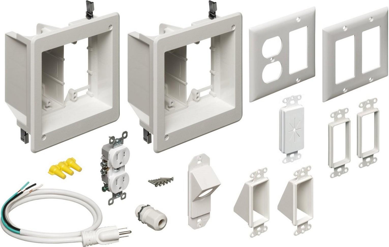 arlington industries tvbr2505k flat panel tv cable. Black Bedroom Furniture Sets. Home Design Ideas