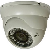 ARM Electronics C600MDIRVFW 600 Line Outdoor IR Dome Camera with OSD (2.8-12mm, 90' IR, White)