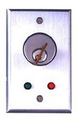 Camden CM-1130-7212 Flush Mount Key Switch, SPDT Maintained With C/W 1 Red and 1 Green 12V LED
