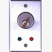 Camden CM-1180 Flush Mount Key Switch, DPDT Momentary