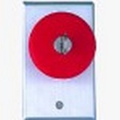 Camden CM-6050 Camden Locking Pushbutton Switch, Red, Push To Lock, Key To Release, N/O and N/C, Maintained