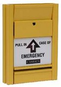 Camden CM-722 2 x N/C Pull in Case of Emergency Yellow Pull Station