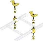 Middle Atlantic CLH-5/8CHK-6 Slotted Ladder Support Hardware with Ceiling Hang Kit (6-pairs)