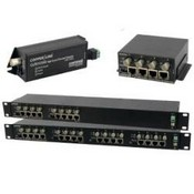 Comnet CLFE16COAX 16 Channel Ethernet over Coax Extender with Pass-Through PoE