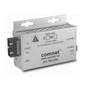 Comnet CNFE1002SAC1A-M Media Converter 100mbps, Singlemode, 1 Fiber Small Size (A), ST Connector, AC/DC Power