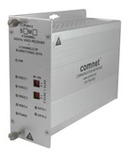 Comnet FVR412M1 4-Channel Digitally Encoded Video Receiver + 2 Bi-directional Data Channels, Multimode