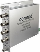 Comnet FVR4C4BS4 Four Channel Digitally Encoded Video Receiver and Contact Closure Over Four Fibers
