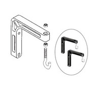 Da-Lite 98035 6 Wall Mount Brackets (Extends 6