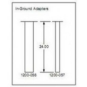 Door King 1200-056 Architectural Post, In-Ground Adapter
