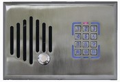Channel Vision DS3-6302 - Telephone Entry Door Intercom with Keypad and Color Camera - Satin Nickel Finish