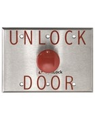 "Dynalock 6291 Palm Switch 1-5/8"" Diameter Red Plastic Time Delay Mushroom Button - City of Denver"