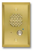 Viking Electronics E-40-PB Polished Brass Entry Phone