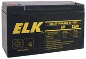 ELK ELK-061-20 Battery, Lead Acid 6V-12.0Ah