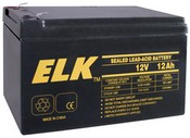 ELK ELK-12120 Battery, Lead Acid 12V-12.0Ah