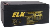 ELK ELK-1233 Battery, Lead Acid 12V-3.3Ah