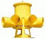 Edwards EWS-V10 Omni-Directional Edwards Warning Siren112 & 118 dB, 8 Horn, Equal Length, Single Row