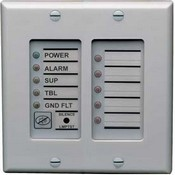 Edwards FSAT2 Annunciator Trim Plate, 2 Gang