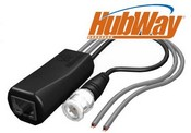Altronix HUBWAYAV2PK 8 Pack Of HubWayAv2 Slim-line Video Balun/Combiners
