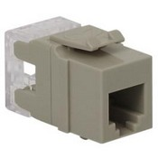 ICC IC1076F0GY HD RJ-11 Keystone Jack, Grey