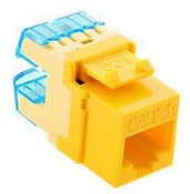 ICC IC1078F5YL Cat5e High Density Modular Keystone Jack, Yellow