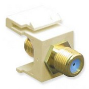 ICC IC107B9GAL Gold Plated F/F F-Type Coupler, 3 GHz, Almond