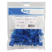 ICC IC107E5CBL Cat5e EZ Modular Keystone Jack, Blue, 25 Pack