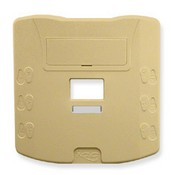 ICC IC108MMBIV Double Gang Multi Media Outlet Cover & Base, Ivory