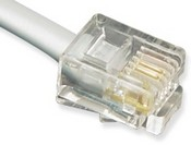 ICC ICLC607FSV 6P6C Pin 1-6 Pre-Terminated Telephone Cable, 7 ft