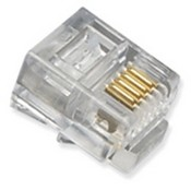 ICC ICMP6P4CFT Modular RJ11 Connectors, Flat Stranded Cable, 100 Pack