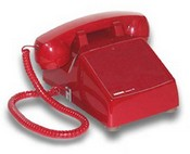 Viking Electronics K-1500P-D Red Desk Phones  W/Ringer And Netwrk No Keyp