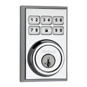 Kwikset Corporation 99100-013 Contemporary Style Motorized Deadbolt w/Home Connect - Polished Chrome