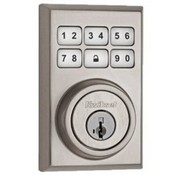 Kwikset Corporation 99100-018 ZigBee Contemporary Style Motorized Deadbolt w/Home Connect - Satin Nickel