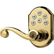 Kwikset Corporation 99120-007 ZigBee Motorized Lever w/Home Connect - Polished Brass