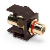 Leviton Manufacturing 40830BBR Brown Rca Jack With Red Stripe