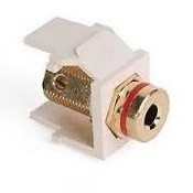 Leviton Manufacturing 40837BTR Banana Jack QuickPort Snap-In Adapter - Light Almond