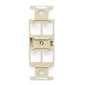 Leviton Manufacturing 41087QIP 4 Port 106 Faceplate Frame Ivory