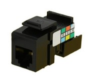 Leviton 41106-RE6 6P6C Voice Grade QuickPort Connector, Black