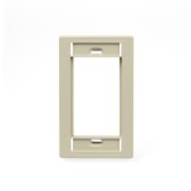 Leviton Manufacturing 41290SMI Single Gang Mos Faceplate Ivory