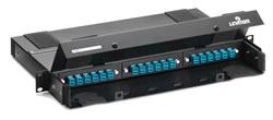 Leviton® 5r460-00n universal fiber optic patch panel, 3-1/2 in h x.