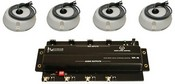 Louroe Electronics ASK-4-304-B Four Zone Audio Interface with 4 B Microphones