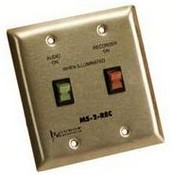 Louroe Electronics MS-2-REC Mute Switch for Microphone & Recorder