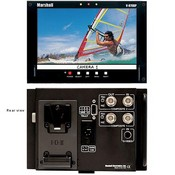Marshall Electronics V-R70DP 1.2 Mega-Pixel 7-Inch Widescreen Video Monitor for Video Assist or Stand Alone Applications, includes V-Type Battery Mount and 4-Pin XLR Input